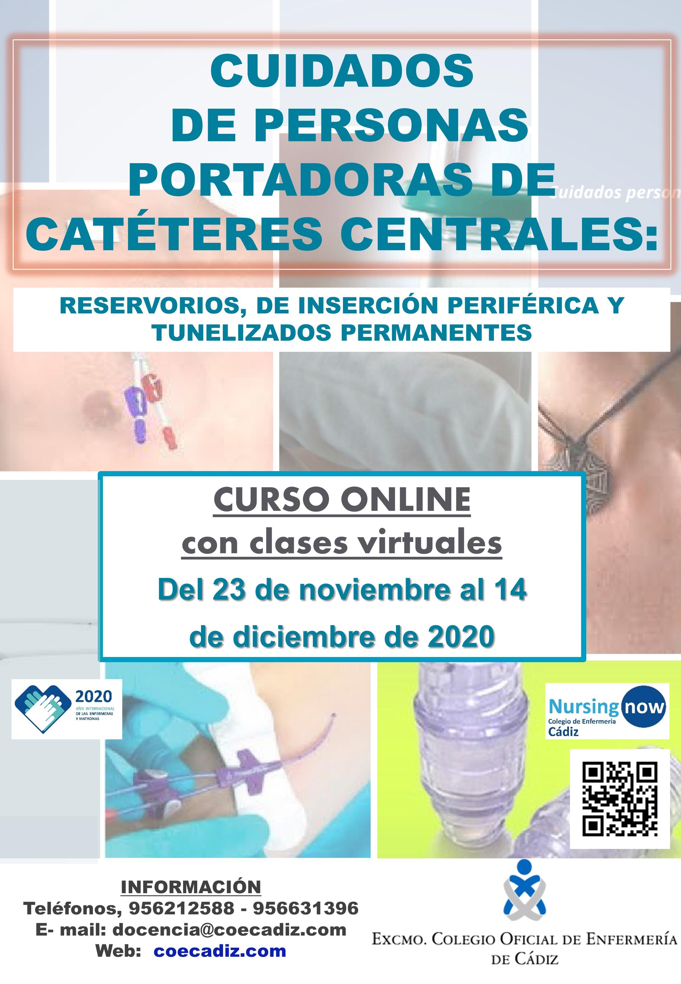 Cuidados de personas portadoras de catéteres centrales: reservorios, de inserción periférica, y tunelizados permanentes