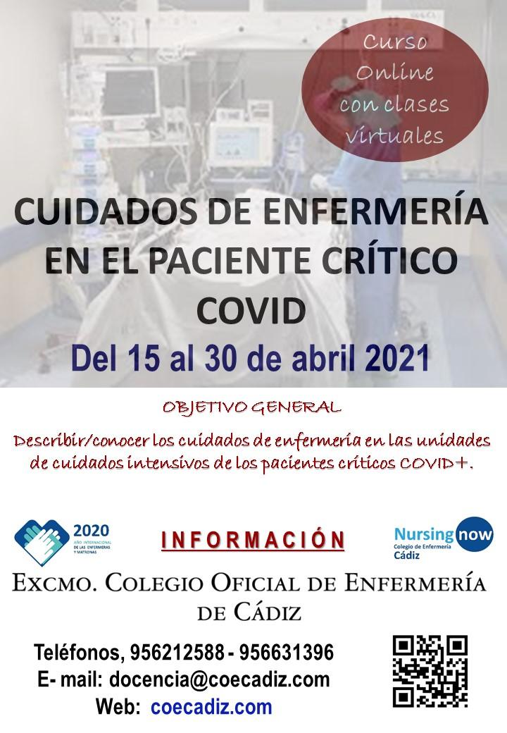 Cuidados de Enfermería en el paciente crítico COVID